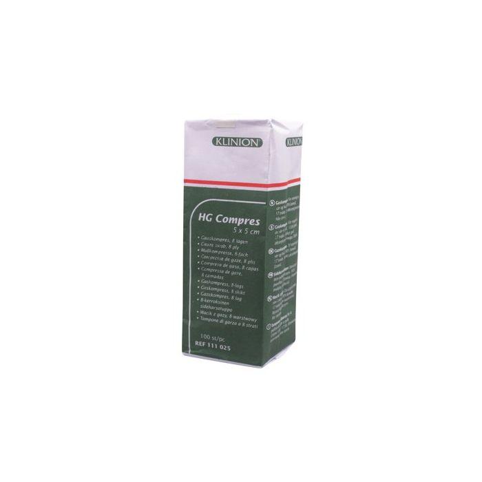 Klinion HG hydrofiel gaaskompres 5 x 5 cm 100st