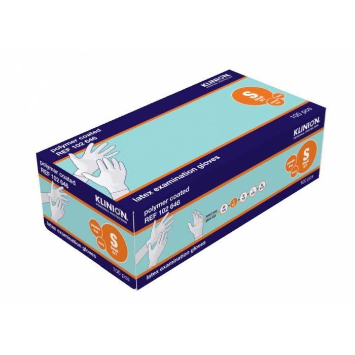Klinion Handschoenen Latex poedervrij wit S