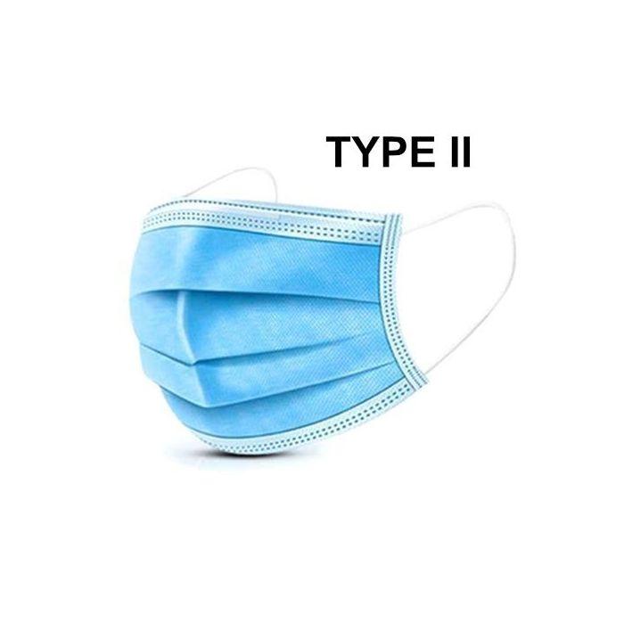 Mondmasker type II, 3 laags blauw 50st.