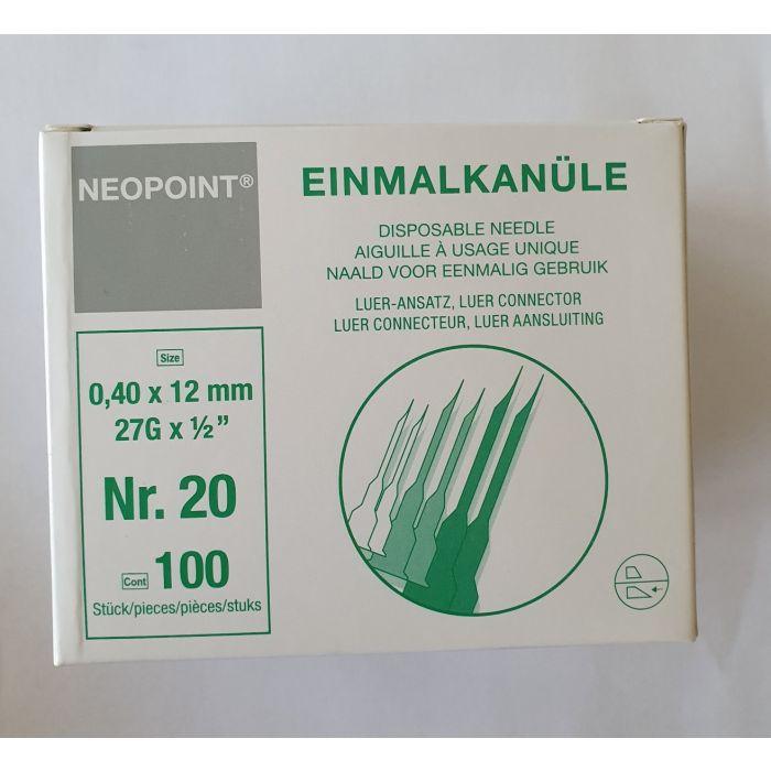 Neopoint injectienaalden 27G x ½ 0,40x12mm steriel 100st.