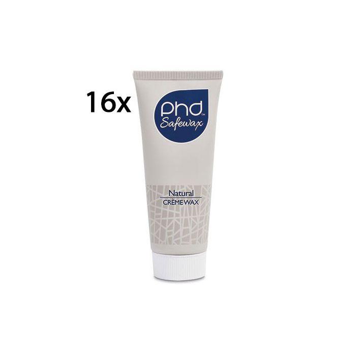PhD wax natural creme 16 tubes 75ml