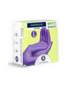 Merbach handschoenen soft nitril paars L 50st