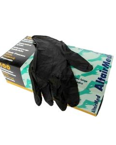 AltairMed nitrile poedervrij zwart L, 100st