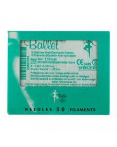 Ballet naalden stainless K4, 50st