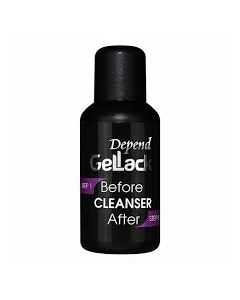 Depend Gellack cleanser before & after 35ml