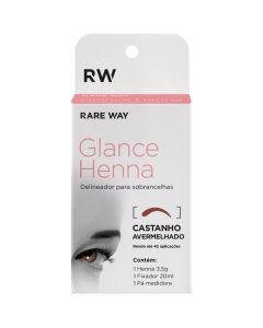 Rare way Glance Henna roodbruin