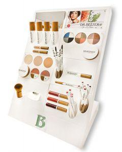 Dr. Belter make-up counter display (met testers)