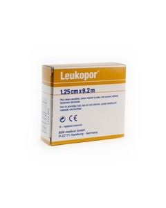 Leukopor 1,25cm x 9,2m dispencer