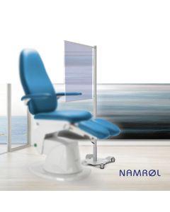 Namrol screen voor behandelstoel