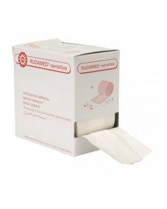 Rudamed Sensitive wondpleisters hypo-allergeen 6cmx5mtr. wit