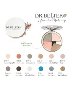Dr. Belter refill satin glow shadow - bambi brown