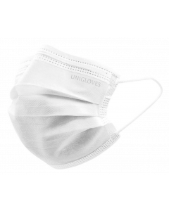Unigloves Mondmasker IIR 3 laags wit 50st