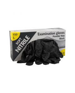 Eurogloves Soft-nitrile poedervrij zwart M, 150st