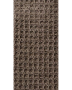 Luxe wafeldeken 2.20 x 1.40 krimpvrij in bruin